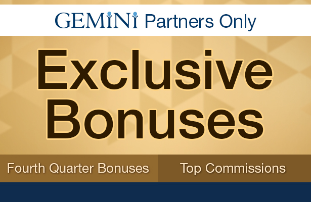 Exclusive Bonuses. Fourth quarter bonuses, and top commissions.