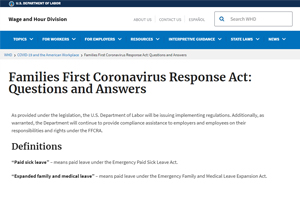 Families First Coronavirus Response Act: Questions and Answers