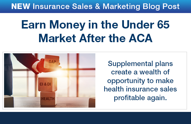 NEW Insurance Sales & Marketing Blog Post. Agents, agencies and brokers in the ACA arena must diversify or die. Read our blog post to find out  how you can help your clients with high deductibles  and earn high commissions, too!