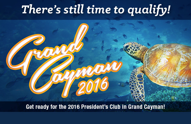 Get ready for the 2016 President's Club in Grand Cayman!