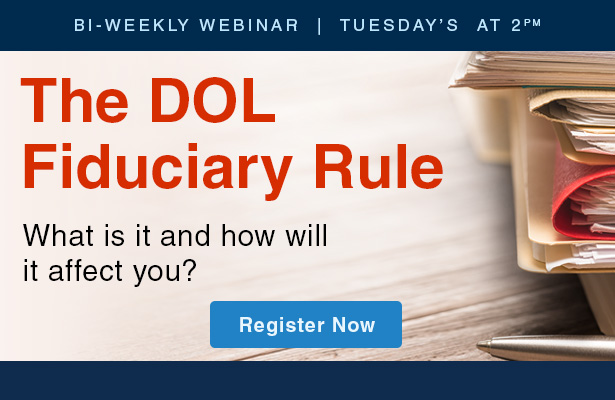 DOL update webinar. Get all the information you need to change with the annuity industry.